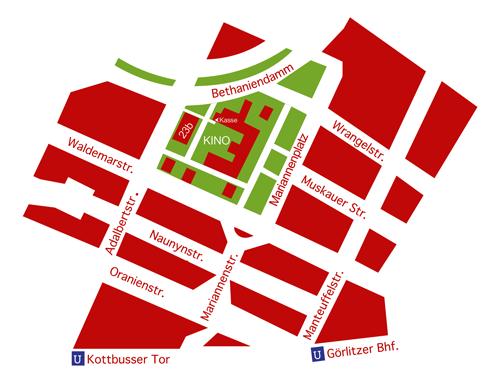 Freiluftkino Kreuzberg Lageplan